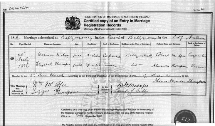 Civil Records of Birth, Deaths and Marriages